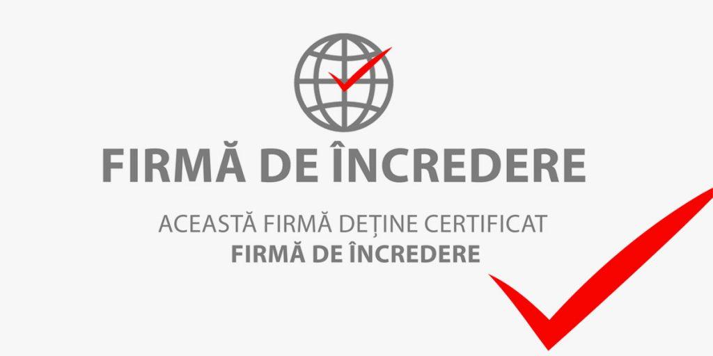 Certificat Firmă de Încredere Sky-Rent-a-Car